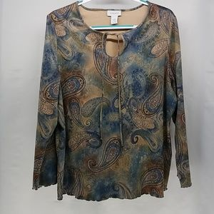 Avenue Women's Blouse 18/20 Paisley